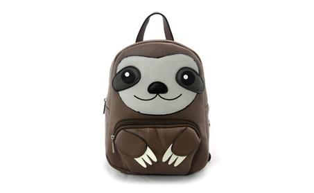 Sleepyville Critters Happy Sloth Mini Backpack Purse (Goods Women's Fashion Accessories Handbags) photo