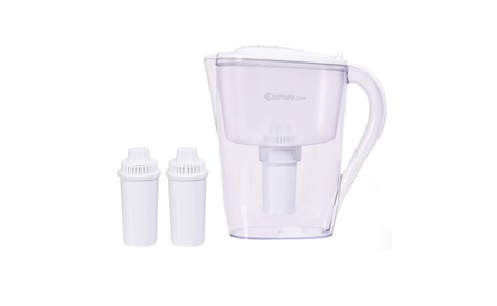 Water Pitcher Filter 10 Cup Capacity BPA Free with 3 Filter Portable 8def6b98-498f-49ff-ae70-9ddfb76bc53d