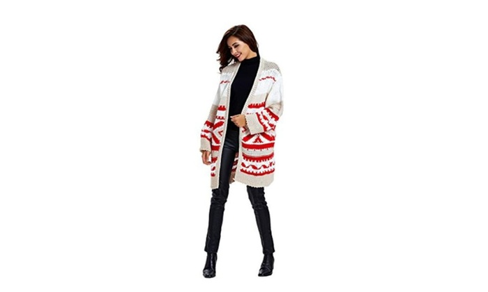 Dressray Women's Winter Warm Loose Knitted Sweater Jacket Cardigan