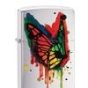 Zippo Rainbow Butterfly Pocket Lighter, Brushed Chrome 29392