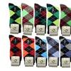 12 Pairs New Cotton Lords Men's Design Dress Socks Multi Color