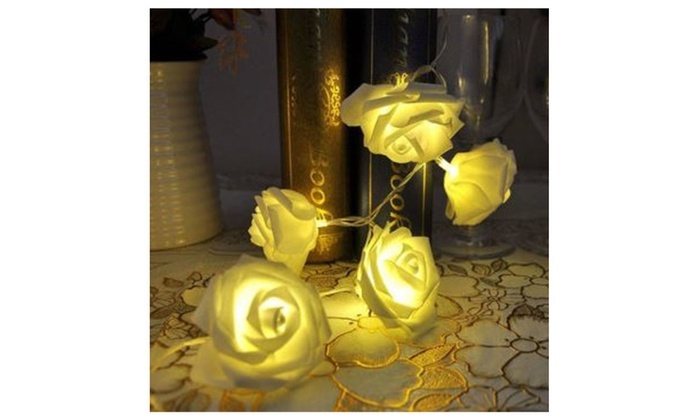 christmas 10 lights rose flower string led fairy lights party decor