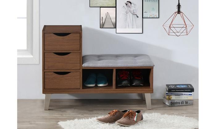 Aris Modern Shoe Storage Cabinet With Bench ...