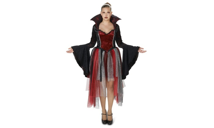 Red Velveteen Queen of Hearts Adult Costume