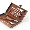 Manicure Tool Set Brown Carrying Case