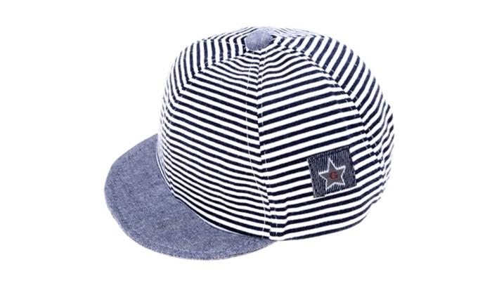 8bede517827 Summer Newborn Baby Girl Boy Infant Sun Cap Cotton Beret Hat Striped ...
