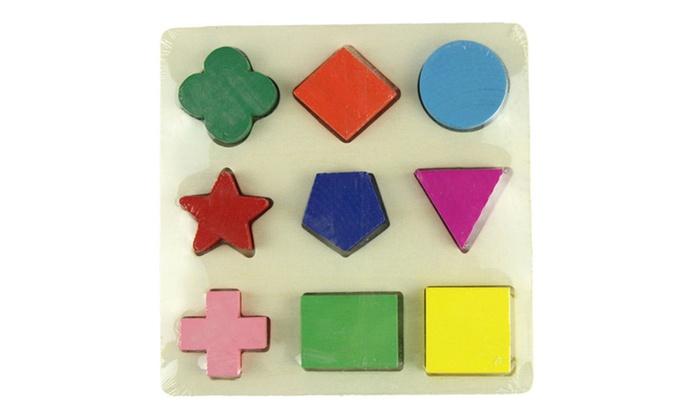 Puzzles Tangram/Jigsaw Board Wood Geometric Shape Educational Kids