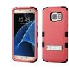 Insten Hard Hybrid Case W/stand For Samsung Galaxy S7 Edge Red/black