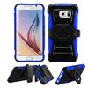 Insten Hard Hybrid Case W/holster For Samsung Galaxy S6 Black/blue