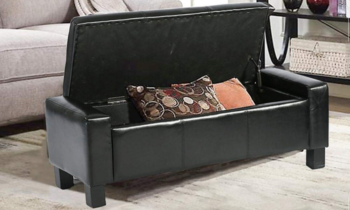 Up To 75% Off on Ottoman Storage Ottoman Bench... | Groupon ...