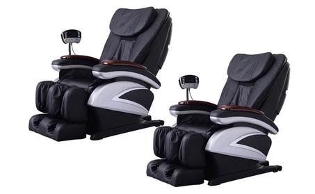 Lot of 2 Full Body Shiatsu Massage Chair Recliner w/Back Roller & Heat 544d9bb4-a95e-4ec5-8f66-79dce9d8d5a1