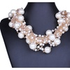 Multilayer Imitation Pearl Crystal Statement Necklace