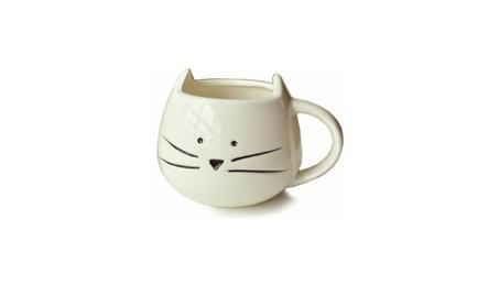 Lovely Cute Little White Cat Coffee Milk Ceramic Mug Cup 13bc5d51-5b82-4b29-aeee-e0f014e76948