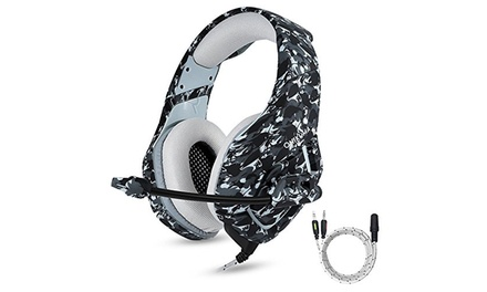 ONIKUMA K1 Stereo Bass Surround Gaming Headset for with Mic PS4, Xbox One, PC Was: $59.99 Now: $29.99.