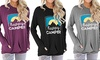 Women Fashion Long Sleeve Good Vibes Casual Graphic Tunic With Pocket