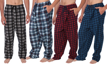 Active Club Men's Mink Fleece Sleep & Lounge Pants (4-Pack)