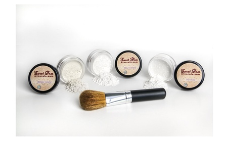 Veil primer shine reduction finishing makeup setting powder face brush