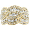10K Yellow Gold 2 CTTW Multi-Row Diamond Ring(H-I,I1-I2)