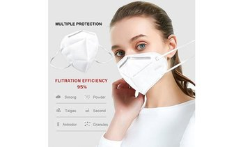 Disposable Face Mask 4 Layer Dust Protection Breathable Masks for Men, Women