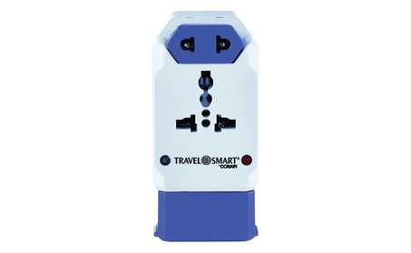 Travel Smart by Conair All-in-One Adapter with USB; 3 Outlets photo