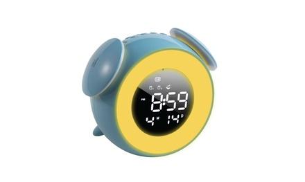 "Sunrise Alarm Clock 5"" Dimmable LED 7 Color Light for Kids Girls Bedroom Blue"