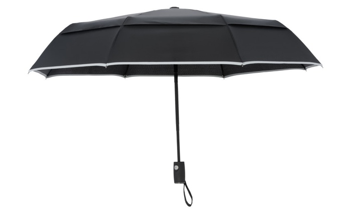 Arcadia Outdoors Vented Double Canopy Wind Resistant Travel Umbrella