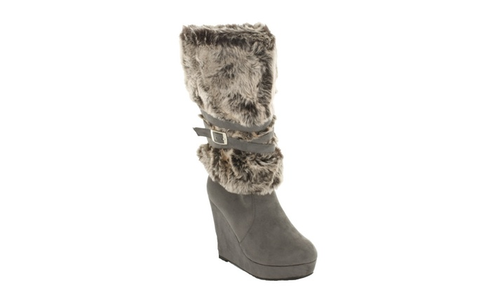 Red Circle Women's Chelby Furry Boot With Strap