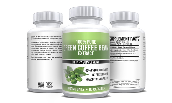 Pure Green Coffee Bean Extract Maximum Strength 1 2 3 Or 6