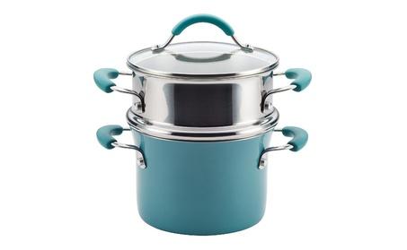 Hard Porcelain Enamel Nonstick Multi-Pot / Steamer Set 92eaff0f-23ac-401d-b1f7-4c7993a9d4b6