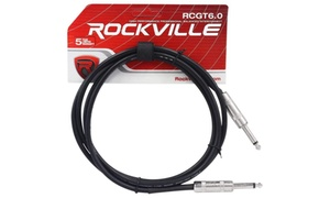 Rockville 6 1-4 TS to 1-4 TS Instrument-Guitar Cable100% Copper