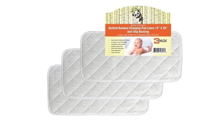 """/""""NEW/"""" Bamboo Baby Changing Pad Liners Portable And Reusable Waterproof 3 Pack"""