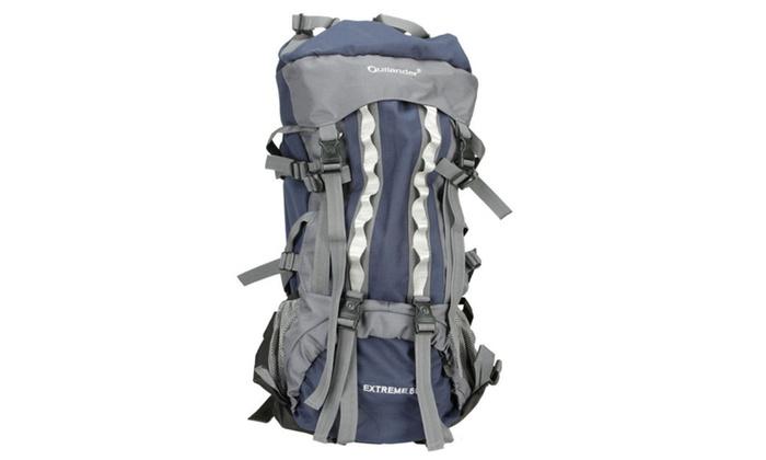 80L Waterproof Backpack Rucksack 600D Shoulders Hiking Internal ...