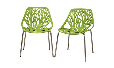 Birch Sapling Plastic Accent Dining Chair (Set of 2)