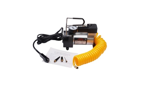 RAD Sportz Heavy Duty 12V Electric Tire Air Pump with Gauge for Car or Bike