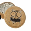 Rick and Morty Pickle Rick Face 2.15 Inche Wooden Herb Cnc Grinder