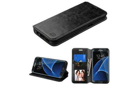 Insten Folio Leather Wallet Case with Card holder For Samsung...