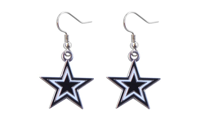 Dallas Cowboys Dangle Logo Earring Set NFL Charm Gift