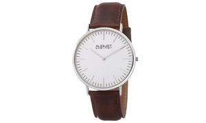 August Steiner Men's Classic Genuine Leather Strap Watch ASGP8084