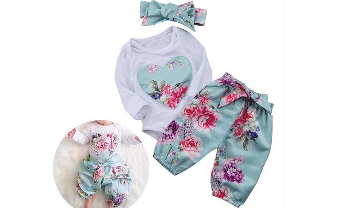 6290d7a0e9b Up To 83% Off on Newborn Baby Girls Tops Rompe...