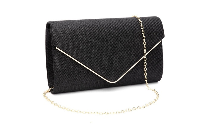 MATCHANT Womens Handbag Evening Banquet Bag Clutch Purse Shoulder Crossbody Bag Color : Black