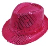 Bright Sparkly Sequins Party Fedora Hat