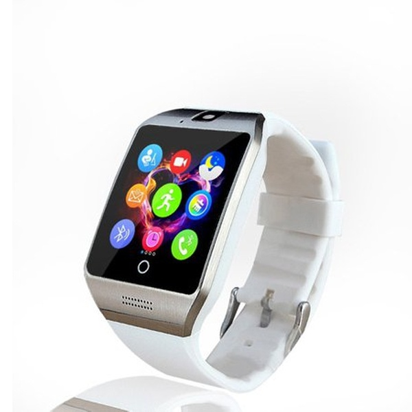 TechComm Q18 Smartwatch Fitness Tracker with 1 3mp Camera - Android Phones  Only