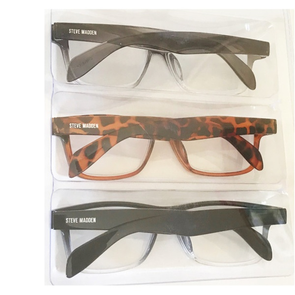 dba881e112dc Steve Madden Two Tone Fashion Reading Glasses 3 Pack +2.50 Readers | Groupon