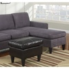 Hesse Reversible sectional sofa in Microfiber finish with Free ottoman