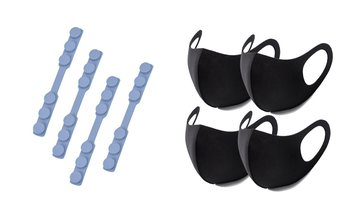 Anti Slip Adjustable Mask Pressure Reducer with Re-usable Mask (8-Pack)