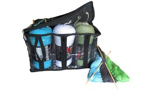 Evelots Knitting Tote Storage Bag Organizer
