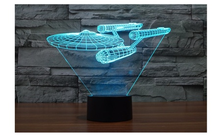 Star Trek Star Ship Enterprise 3D Led Lamp f42e1a4c-b273-4b36-ba56-94259d1d78e3