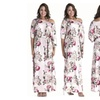 Women's printing 3/4 Sleeve Plus Size Evening Party Maxi Dress