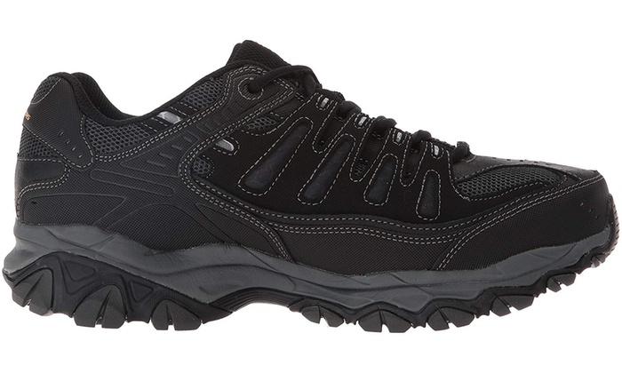 Skechers Men's Afterburn Memory Foam Lace up Sneaker Groupon  Groupon