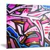 Abstract Graffiti Melbourne Street Art Metal Wall Art 28x12